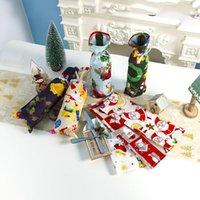 Accessori vino Bottiglia copertura creativo della bevanda Cappelli sacchetto per Festival del partito multifunzionale decorazione della famiglia Babbo Natale