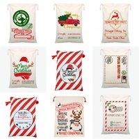 Serviço de entrega com cordão saco pesado Bolsa de Santa Sacos Feliz Natal decorações ornamentos de 2020 Snack Canvas presente 10 9by C2