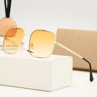 2021 Gafas de sol polarizadas de nueva marca de lujo Hombres Mujeres Piloto Gafas de sol UV400 Gafas de gafas Marco de metal Lente polaroid