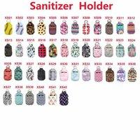 Neoprene Hand Sanitizer Bottle Holder 30ml Lipstick Holders Lip Cover Handbag Keychain Pouch Chapstick Holder Party Favor fy8119