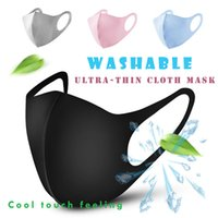 Alta calidad! Sót polvo anti boca cara cubierta PM2.5 mascarilla a prueba de polvo anti-bacterianas reutilizable lavable de algodón de seda del hielo Máscaras Herramientas