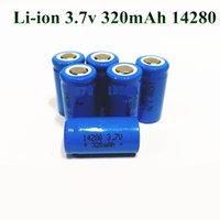 10pcs 3.7V 320mAh 14280 lithium rechargeable cellule de batterie à ions Li-ion 300MAH pour torche de poche à DEL et gps de stylo laser