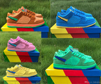Release DUNK SB Low Orange Green Yellow Pink Blue Mens Womens Outdoor Sneakers Authentic Shoes With Box