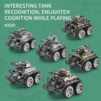 البسيطة الأولاد محاكاة سحب لعبة العادية عودة اللعب المركبات دييكاست المدرعة نموذج سبيكة عيد شاحنة خزان هدية سيارات GBWRM