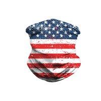 أقنعة التمويه مطبوعة ماجيك الأوشحة علم الولايات المتحدة الأمريكية سحر الحجاب الرياضة في الهواء الطلق ركوب الدراجات العصابة الحجاب كامو الدراجات 60PCS أقنعة CCA12420