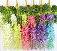 7 couleurs élégante fleur de soie artificielle pour la fleur de fleur de fleur de fleur de vigne pour la maison de mariage de jardin de maison 75cm et 110cm disponible