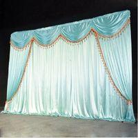2021 Paño de seda de hielo boda backgroups bebé niños ducha decoración de fiesta de cumpleaños telón de fondo cortina arco iris boda cuerda telón de fondo cortina