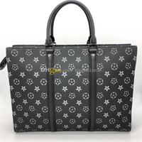 2020 الكلاسيكية رجل حقيبة كاك بلات أفقي zippe M45265 جودة عالية مصمم حقيبة، حقيبة كيس الكمبيوتر حقيبة الرجال في الأسهم شحن مجاني