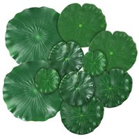 15 Pieces 5 Kinds Artificial Floating Foam Lotus Leaves Lily...