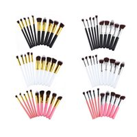 10pcs set Makeup Brushes Professional Cosmetic Brush Kit Nylon Hair Wood Handle Eyeshadow Foundation make up Tools