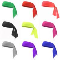 Mode elastische Bandeau Krawatten-Knoten Haarbänder Polyester-Stoffe Bunte Stirnband Erwachsene Kind Fit Zubehör Yoga Tennis Coverchief 4gy C2