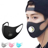 With Valve Washable Valve Mask Reusable Anti- Dust Ice Silk P...