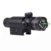 Vistas tático Verde Visão Laser Scope exterior Caça ponto com laser verde feixe 20 milímetros Picatinny Rail Mount e Switch Cabo remoto.