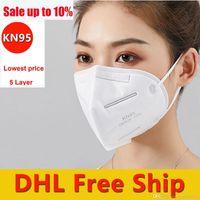 Nouveau Masques de KN95 réutilisables améliorés avec certificat en stock Jetable non tissé DHL Livraison gratuite 3-7 jours à US KN95 Masques de visage KN95