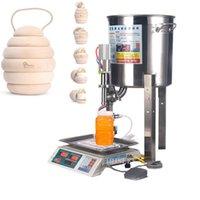 Automático pequena mel mel máquina de enchimento manual de sésamo óleo de sésamo leite molho de iogurte líquido pesagem mac enchimento quantitativa