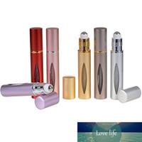 10ml Mini Roll on Aluminum Bottle Óleo Essencial de aço do metal Roller Ball Fragrance Perfume