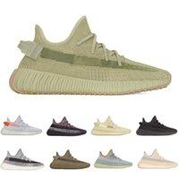 2020 zapatos corrientes de la luz de la cola de la escoria Eliadá Tierra lino azufre Zapatos de lino Yecheil Kanye West zapatillas de deporte de la mejor calidad mujeres de los hombres con la caja