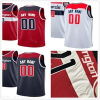 Custom Printed Jerseys Top Quality Man White Blue Red Jersey...