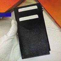 Titular do cartão COIN Moda bolso com fecho Organizador Mulheres Cartão de couro titulares Caso bolsas Men Carteira múltipla Passaporte Tampa M30271