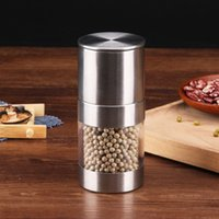 Pepper Mill Grinder Sale in acciaio inox manuale portatile Cucina Mulino Muller Spice salsa Grinder Pepper Mill Home Kitchen Strumento FFA4331-2