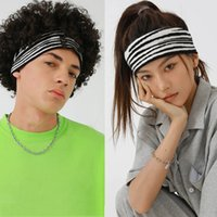 New 16 color knit Headband Zebra pattern Sport Running Cycling Sweatband For men women Headscarf Headwear headband yoga fitness sweat head