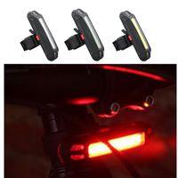 Велосипед Задняя Передняя лампа 3 Режимы безопасности стробоскопы Установить Супер яркий светодиодный свет USB заднего света велосипеда РДЦ для горных велосипедов