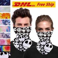 Máscaras de Halloween Esqueleto DHL Bufanda Cara Joker diadema Pasamontañas cráneo de la mascarada de esquí de la motocicleta Ciclismo Pesca deportes al aire libre FY6099