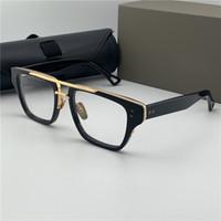 خمر ماركة مصمم رجل النظارات الأزياء العين نظارات شفافة واضح القضبان قصر النظر وصفة النظارات البصرية إطارات امرأة رجل تصميم