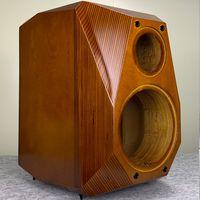 Alto-falantes de livros 6.5 / 8 polegadas Armário de alto-falante vazio Dois way Soild Chassis de madeira / caixa / caixa de gabinete clássico