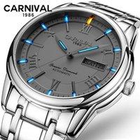Orologi da polso moda casual orologio meccanico uomo casual carnival impermeabile tutti gli orologi in acciaio Montre Homme