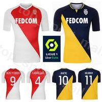 2020 2021 AS Monaco Soccer Jersey 9 BEN Yedder 13 SLIMANI 11 MARTINS 17 Golovin 14 BALDE 6 Bakayoko LECOMTE Football Shirt Kit