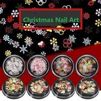 1 коробка ногтей блестки снежинки рождественские украшения блестящие блестящие конструкции смешанные цвета 3D наклейки для маникюра ногтей