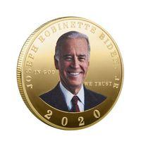Biden Souvenir Coin 2020 Medaglia Stati Uniti d'America Elezioni presidenziali Biden metallo Moneta Commemorativa Biden campagna di raccolta monete OOA8329