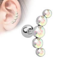 Boucles d'oreilles en acier inoxydable en acier inoxydable gratuitement en acier inoxydable percé bijoux corporels pour femmes la mode et cadeau sableux