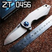 Tolerancia Cero ZT 0456 ZT0456 D2 TC4 aleación de titanio de alta calidad ZT caza plegable de camping navidad cuchillo