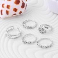 Trouwringen voor vrouwen 18K gouden kristallen ringen set noble charms meisjes saffier sieraden trouwring set