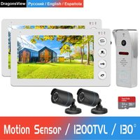 Dragonsview Wired Video Door Phone For Home 2 Monitors 1 Doo...