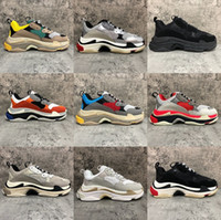 2020 Paris Fashion 17FW Triple-S Sneaker Triple S Casual Shoes papà per Uomo Scarpe Donna Beige Nero Ceahp Sport Dimensioni 36-45