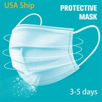 Free Shipping 3- 7 Disposable Mask 50pcs 3- Layer Face Masks P...