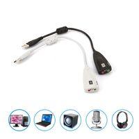 Внешняя USB звуковая карта 7.1 канал 3D аудио адаптер 3,5 мм замена гарнитуры для настольного компьютера ПК ноутбук JK2008KD