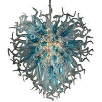 Art Deco Lámpara Mano soplado vidrio araña iluminación accesorio chihuly estilo moderno led araña casero decoración de hoteles ahorro de energía