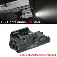 빨간색 도트 레이저 LED 미니 화이트 라이트 200 루멘 손전등을 가진 전술 xc2 소형 스카우트 빛
