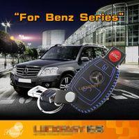 سيارة مفتاح حقيبة جلدية الأعلى طبقة الغلاف مفتاح السيارة 2011-2020 لبنز W203 W210 W211 W204 AMG C E S CLS CLK CLA SLK سلسلة ملحقات السيارات