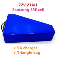 72V 21ah ليثيوم أيون ebike بطارية حزمة 3000 واط سكوتر الكهربائية مع 50a bms 84v 5a شاحن حقيبة مثلث الحرة