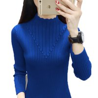 Autumn Winter Bottoming Shirt Women's Sweaters knitted Sweater Pullover Turtleneck Solid Color Elasticity Warm Sweaters Jumper