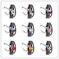 Pulsera de cuero de la bandera nacional Corea, Serbia, Rusia, Eslovenia, Argentina, Estados Unidos, Turquía, España, Joyería de Dominica para mujeres
