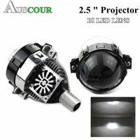 """35W2.5"""" BI LED voiture de lentille de projecteur LED phare Universial Haute Basse faisceau caché lentille xénon adapter h1 h4 h7 d1 3 4 retrofit Modifier"""