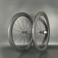 Freeshipping 700C 60MM العمق الطريق الكربون عجلات 25 ملليمتر عرض الطريق الدراجة الفاصلة / أنبوبي الكربون العجلات U- الشكل حافة 3K ماتي