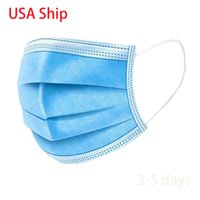 Disposable Face Mask 3- layer 50 Pcs Protective Safety Masks ...