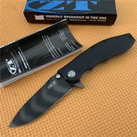 ZT pieghevole coltello Zero Tolerance CPM-20CV Lama coltelli 60HRC tasca per escursione di campeggio esterna di caccia Folding Knives